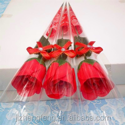 Simulated single rose soap flower creative soap flower Practical Valentine 's Day gift
