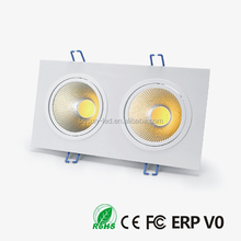 Led downlight 2x6w square downlight cob 15w surface mounted ceiling light