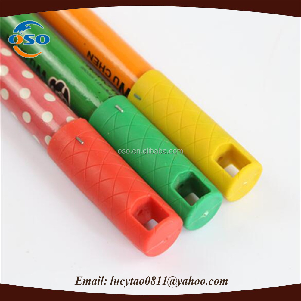Chinese broom stick wooden broom handle cover with pvc
