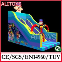 Alitoys special for Christmas! 2015 SS new design inflatable Christmas style dry slide, inflatables rental
