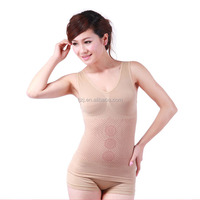 Fleshcolor and black color Far infrared body suit