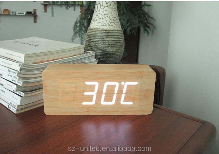 Hot style wooden led digital alarm clock-- Model 1692