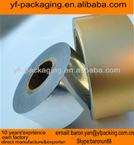 silver&golden 35gsm paper laminated 6.5mic aluminum foil