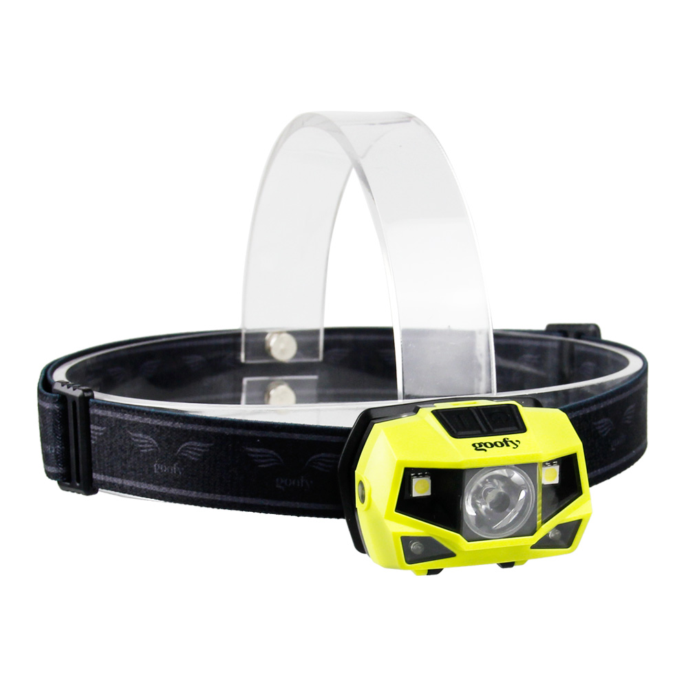 dry battery operated plastic headlamp cap clip cob led