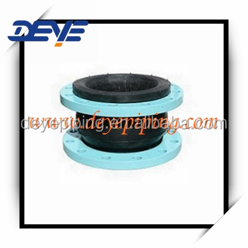 Expoxy Coated Flange Single Sphere Rubber Flexible Joint with ANSI DIN BS