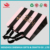 china supplier black stripe black handle pink shopping paper bag