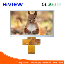 TFT type 7.0 inch lcd display panel 800x480 pixels resistive touch screen lcd