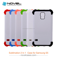 2016 Hot sale 3D 2in1 Sublimation blank Phone Case For Samsung S5