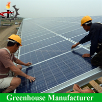 Mulit Span Solar Photovoltaic Cell Greenhouse