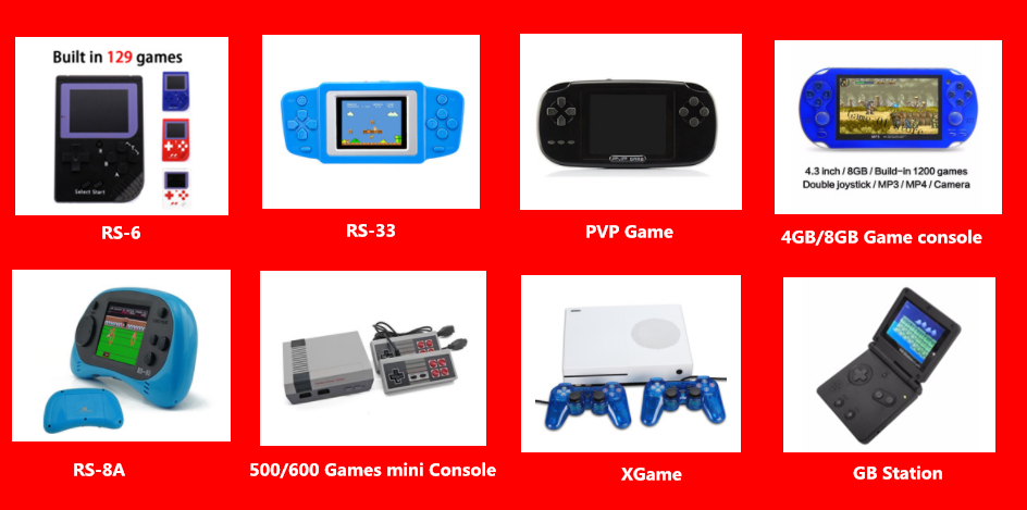 Nicebest 32 bit Portable Video Game Built in 653 Games Support CP1/CP2/NEOGEO/GBA Handheld Game Console
