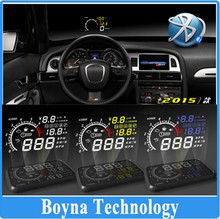 5.5'' X3 Car HUD Head Up Display KM/h MPH Speed car Alarms warning OBD2 Bluetooth to Phone PC also can be OEM customized