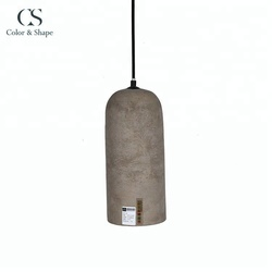 Custom durable grey modern cement ceiling lights hanging
