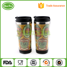 DIY shape coffee travel mug tumblers with paper insert advertising mug