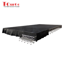 Portable Stage for Sale with Modular Stage Systems and Stage Skirting - TourGo