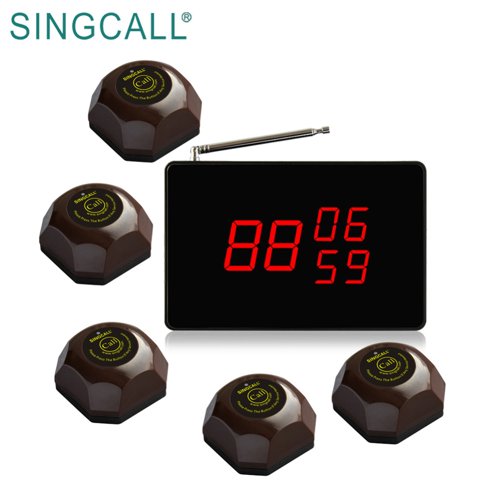 SINGCALL paging service system wireless waiter call system for restaurant