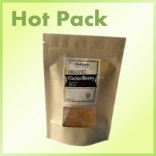 Food grade ziplock kraft paper pouches for tobacco with great price