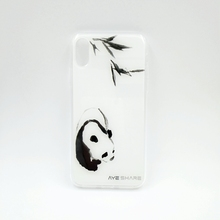 Shenzhen accessories panda design mobile phone back cover for iphone X