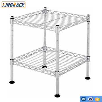 "Muscle Rack 2-Shelf 12""W x 12""H x 12""D Light Duty Wire Shelving Unit in Chrome wire shelvings"