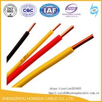 AWG PVC Insulated Electrical Power Cable Wire