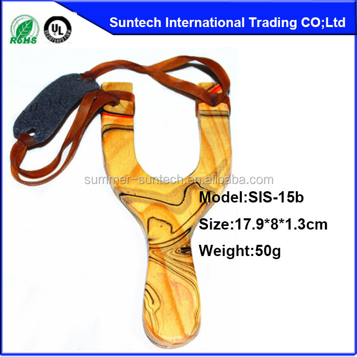 2015 hot sale animal wood slingshot