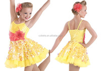MB2016 (15) Adult black yellow stage competiton dance wear ballet tutu dress