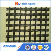 Asphalt Fiber-Glass Geogrid Road Base Pavement