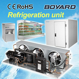 commercial refrigerator spare parts carrier hvac condensing units with R404A horizontal refrigeration compressor