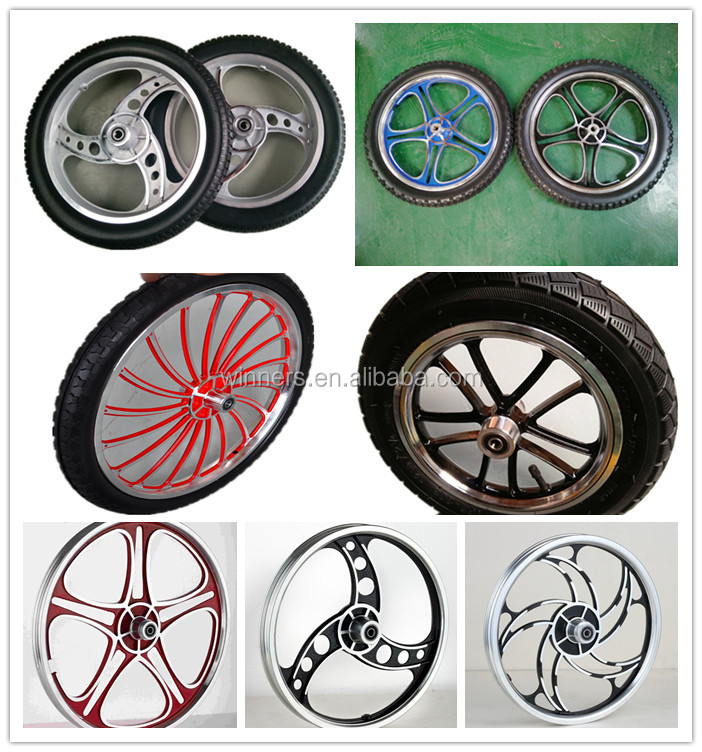 16 inch 3 spoke aluminium alloy spoke chrome rim Wheel