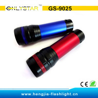 GS-9025 aluminum best CREE Q5 bulb strong light telescopic focusing camping led flashlight