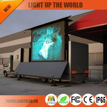 IP65 P10 10ft X 12ft LED Video Wall Screen Panel, Interactive LED Number Truck Display Cabinet for Advertise
