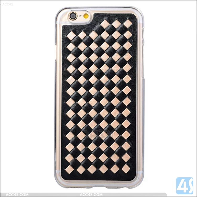 New Design Woven Pattern Plastic Back Glitter Luxury Cover for iPhone SE 5 5S phone case