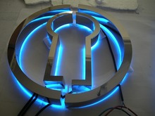 outdoor advertising backlit metal letter signs/decorative metal letters