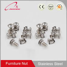 stainless steel din standard square weld lock cage nut with phillips head self tapping screw