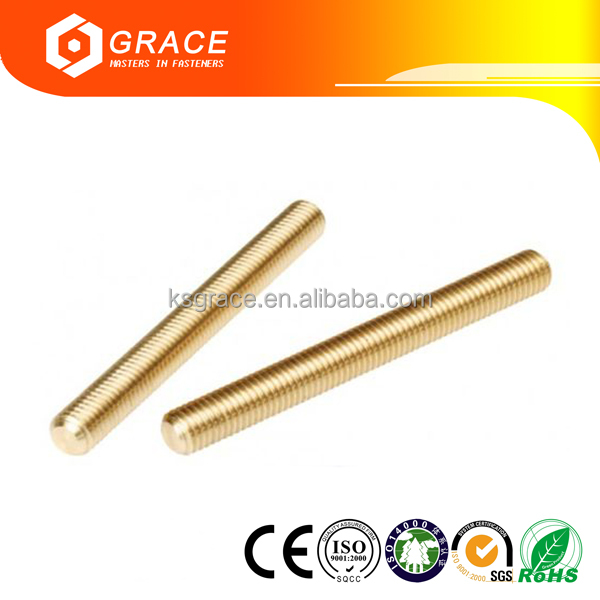Solid Brass All Thread Threaded Rod Bar Studs