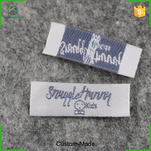 Free sample high quality satin woven label sewn on clothes