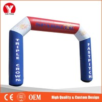 Cheap Inflatable finish line arch for race gate from yunyang