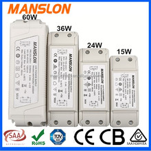 15W 24W 36W 60W Meanwell constant current LED driver 300mA 500mA 700mA LED lighting power supply with CE TUV SAA approval