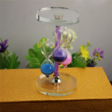 60 Minutes three color modern sand sandglass hourglass time clock for wedding <strong>gift</strong>