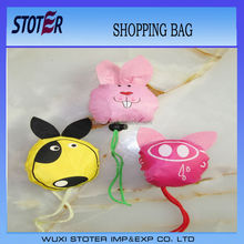 2014 New Style Colorful Strawberry Reusable Foldable Nylon Shopping Bag