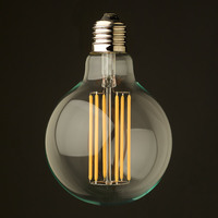 Decoration Lighting E27 E26 6W 8W G95 G125 Glass Warm White Retro Vintage Edison Filament Lamp LED Light Bulb