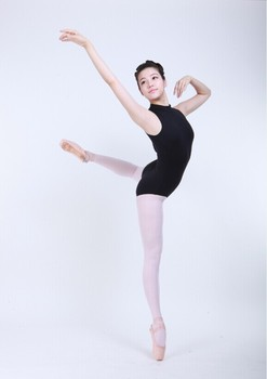 D031016 Dttrol wholesale high neck sleeveless lycra dance wear leotards