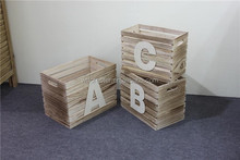 classical cheap wooden toy box wholesale