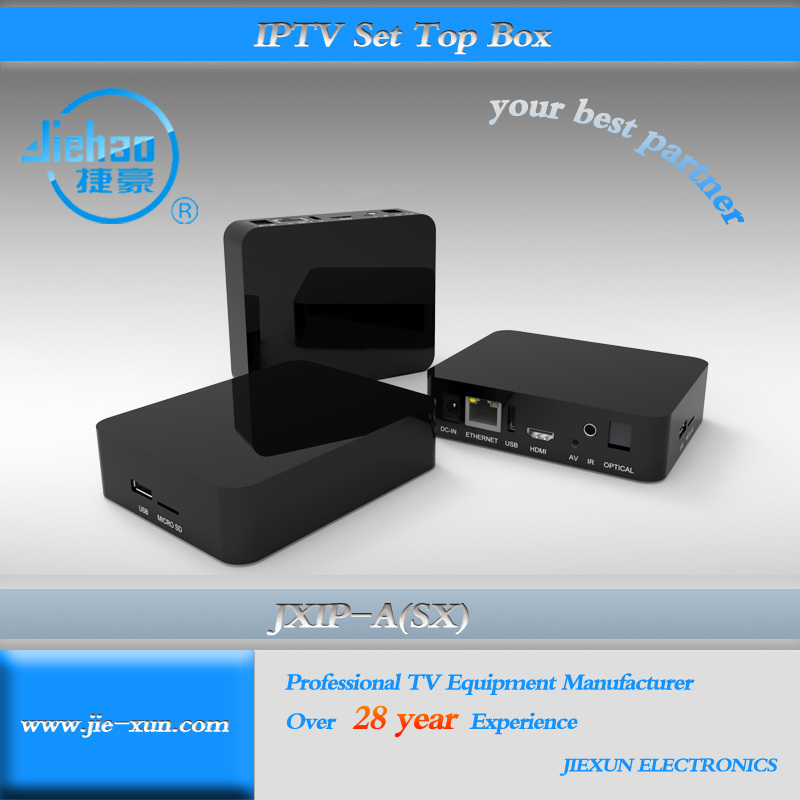 Black Cute Smallest USB 1080P HD HD MI Arabic IPTV Set Top Box