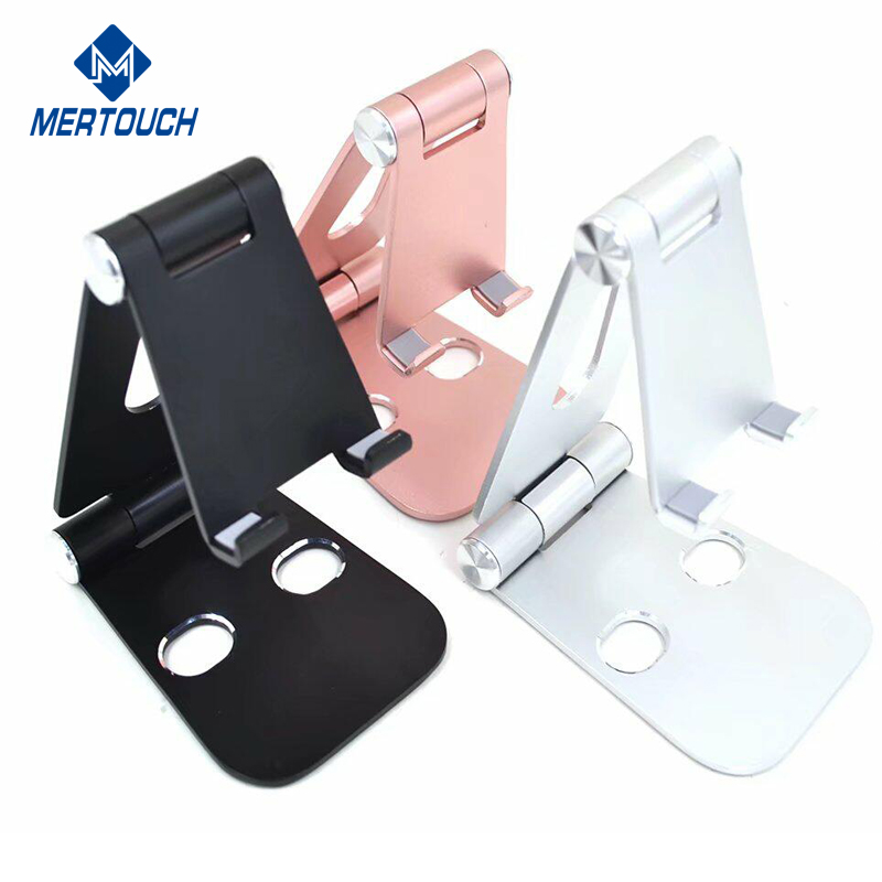 For iPhone Xr Xs Mas mobile phone holders display stand metal folding aluminum Adjustable tablet PC mobile phone stand