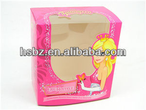 lovely princess gift paper perfume box with pvc window