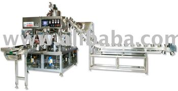 Rotary fill seal packing machine ( Liquid+solid )
