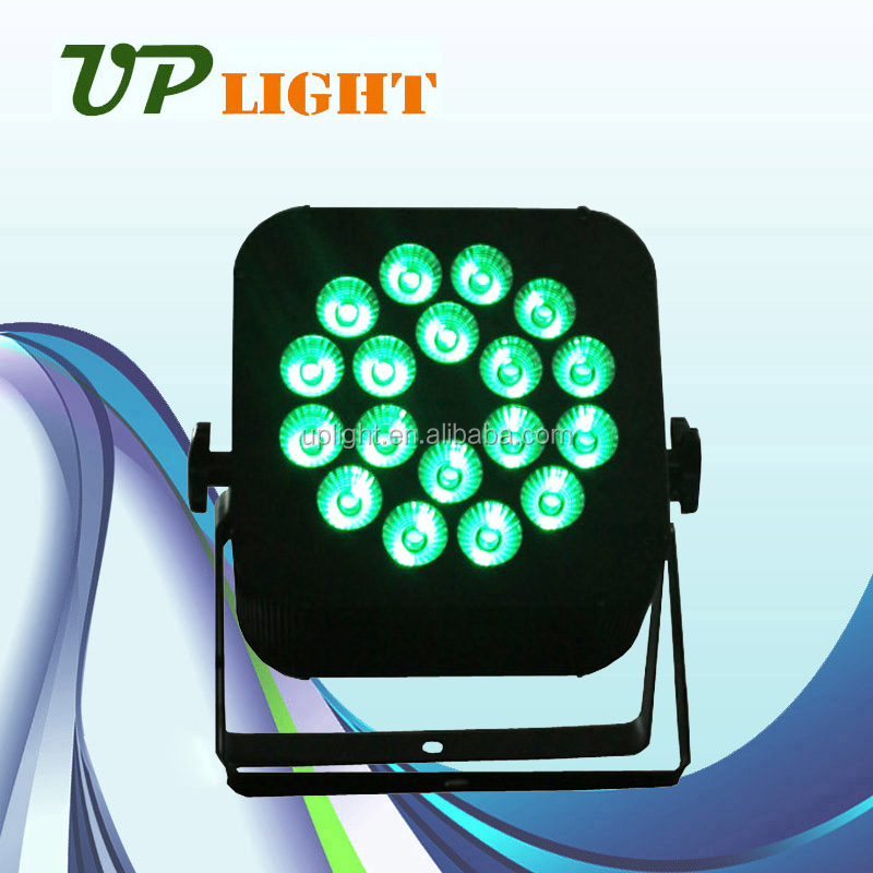 dj light 18w RGBWA+UV 6in1 mini indoor led flat par