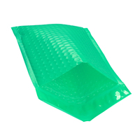 Green Shipping Envelope Bag with Bubble 6x9 Poly Bubble Mailing Bags