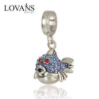 Fish Custom Floating Locket Charms Sterling Silver Beads