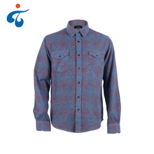 Custom long sleeve thick cotton wholesale plaid mens flannel shirt